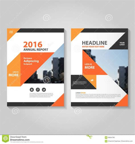book template design abstract orange black annual report leaflet brochure flyer