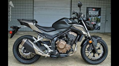 Schwarz Matt Motorrad by 2016 Honda Cb500f Sport Bike Motorcycle Walk