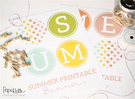 printable summer banner summer printables classy clutter