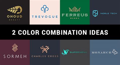 best 2 color combinations 10 best 2 color combination ideas for logo design free