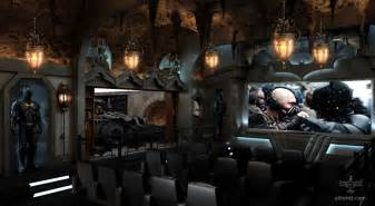 Steelers Bedroom Set Dark Knight Themed Home Theater Every Man S Batcave Dream