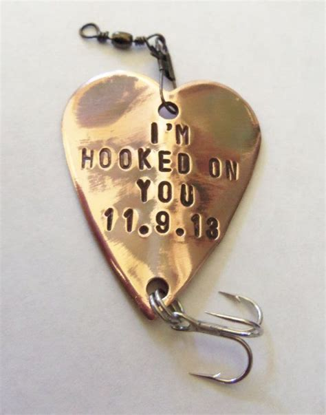 hooked on you fishing lure custom men gift meaningful