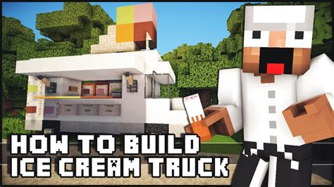 how to build a shop minecraft how to make ice cream truck youtube
