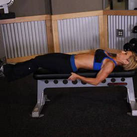 flat bench leg pull in crunch flat bench lying leg raise exercise guide and video