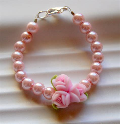 pearl baby bracelet baby gift infant jewelry baby