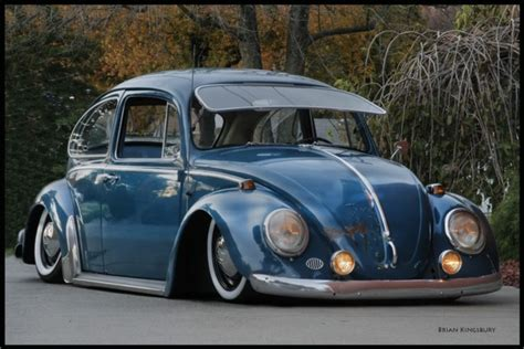 old blue volkswagen slammed vw beetle old bugs pinterest blue vw