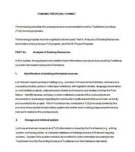 Funding Template by Doc 585615 Grant Template Exle Funding