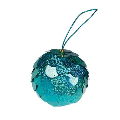 light turquoise baubles shiny shatterproof pack of 18 x