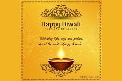 golden happy diwali card   wishes