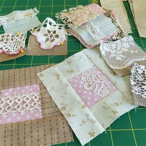 What Is Patchwork Used For - pretty way to use lace on a quilt quilting fabricaholic