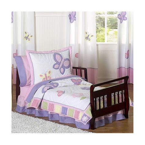 butterfly toddler bedding set purple butterfly toddler bedding mygreenatl bunk beds