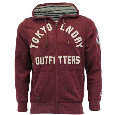 Applique Hooded Zip Jacket mens sweatshirt tokyo laundry hooded top sweat applique