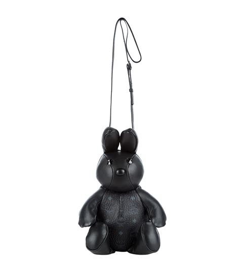 Rabbit Backpack In Visetos Black mcm bunny cross bag in black lyst
