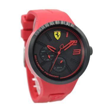 Jam Tangan Adidas Hitam List Merah jual rubber jam tangan pria merah plat hitam 0830396 harga kualitas