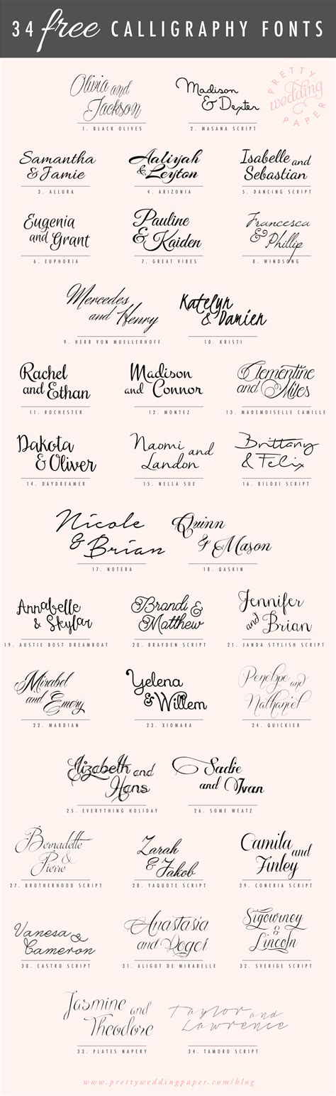 Free Wedding Handwriting Font by 34 Free Calligraphy Script Fonts For Wedding Invitations