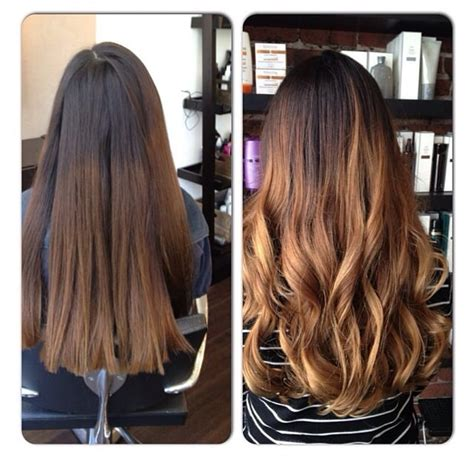 wash hair after balayage highlights balayage highlights ombre effect before and after yelp