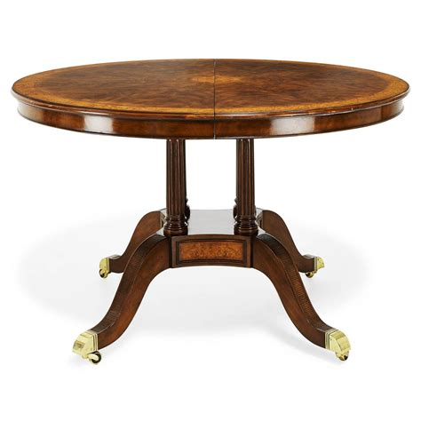 48 round dining 48 inch round to oval walnut and yew banded dining table