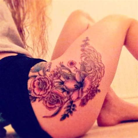flower tattoo on hip my floral hip ink me up