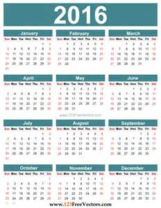 Yearly calendar 2016 to print hd calendars 2016 kalendar 2016