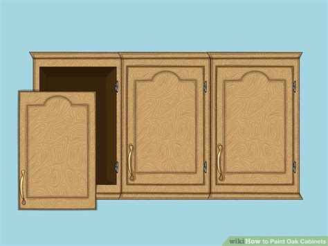 prepping cabinets for paint how to paint oak cabinets 15 steps with pictures wikihow