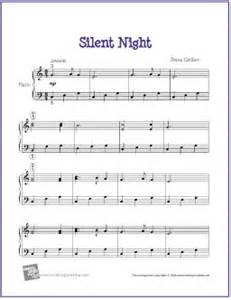 Silent night free printable easy piano sheet music my favorite