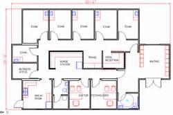 Medical clinic floor plans for pinterest