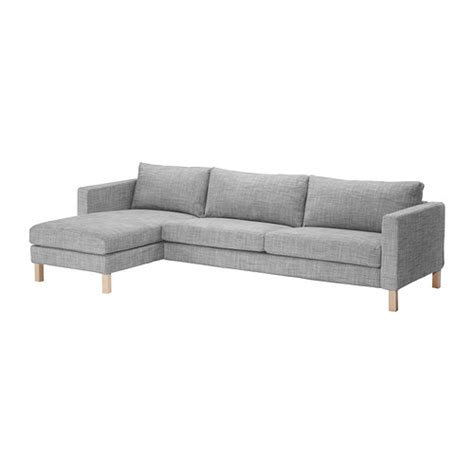 chaise couch ikea karlstad sofa and chaise lounge isunda gray ikea
