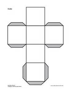 3d shape cube printable math pinterest