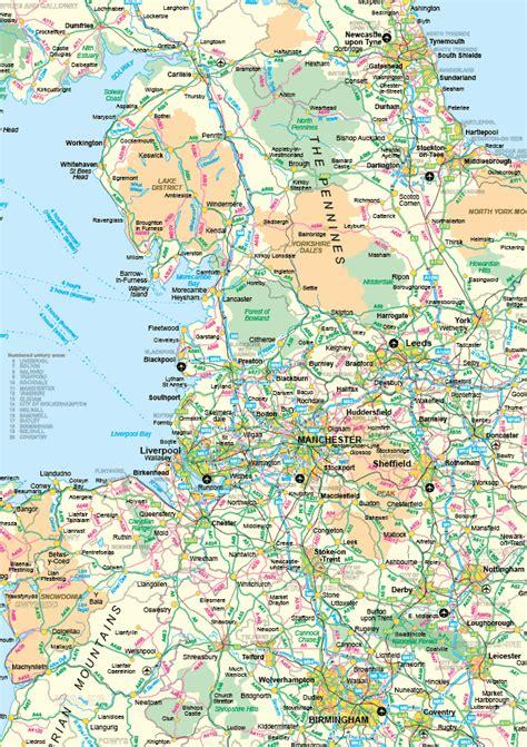 road map uk editable vector uk roadmaps and postcode maps