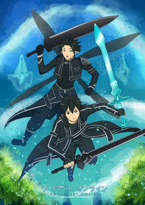 Dakimakura Guling Side Sword Asuna Kirito sword kirito by gaviniko on deviantart