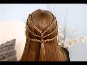 Triple braided tieback cute girls hairstyles youtube