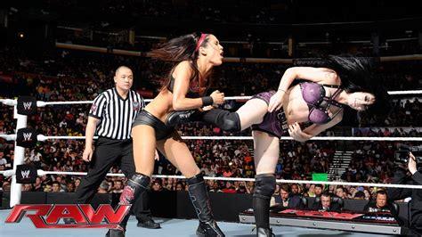 paige vs brie bella divas championship match raw