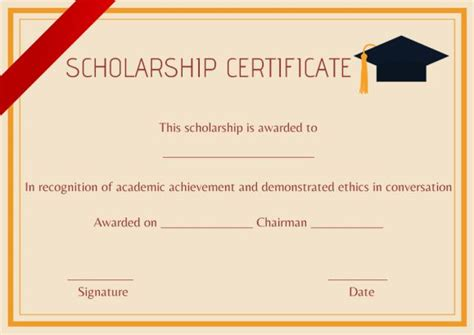 certification letter for scholarship scholarship certificate template 11 professional