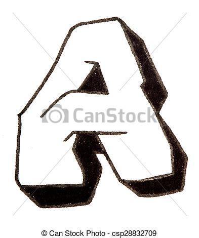 lettere stile graffiti alfabeto stile graffito uno lettera stile graffity