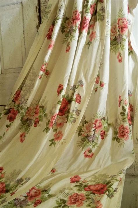 vintage flower curtains 1000 images about vintage curtains drapes on pinterest