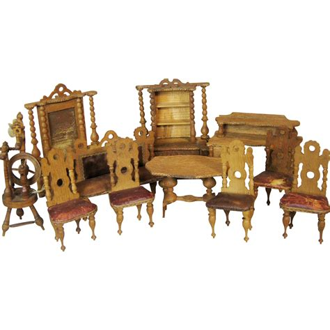 large dolls house furniture large set of antique miniature doll house furniture from