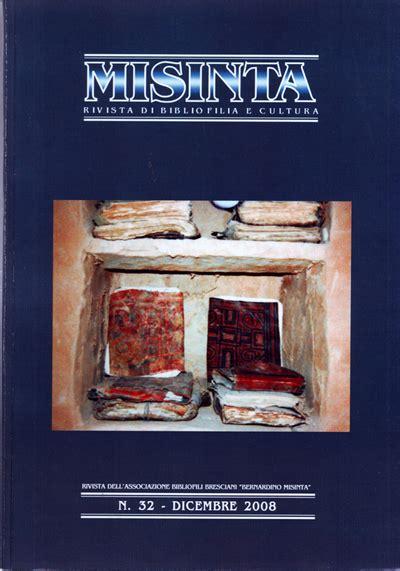 libreria queriniana brescia rivista misinta misinta