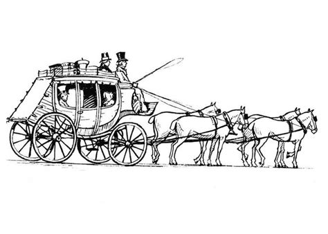 horse sleigh coloring page a horse drawn carriage coloring pages