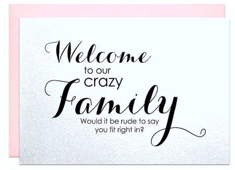 Wedding Quotes Welcome To The Family welcome to the family wedding engagement card for