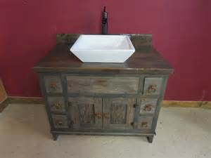 Reclaimed gray barn wood bathroom vanity rustic