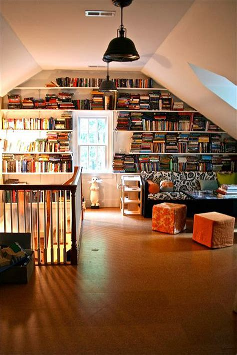 Attic Study Room by Attic Library Decorations