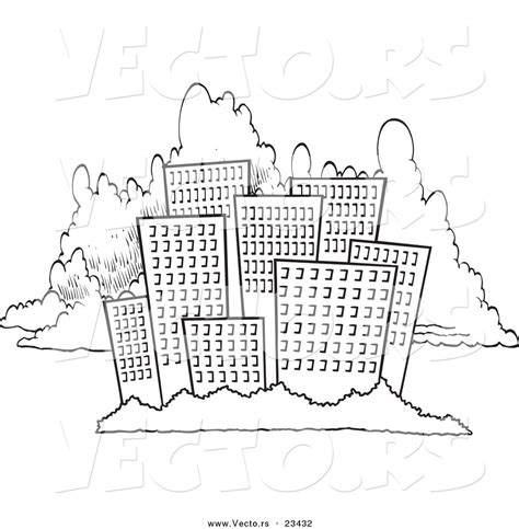 chicago skyline silhouette sketch coloring page