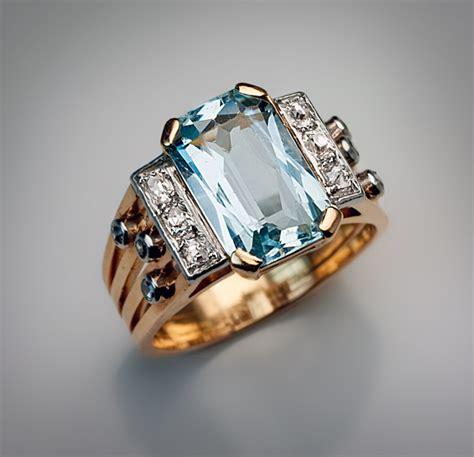 deco aquamarine rings a vintage deco aquamarine and ring ebay
