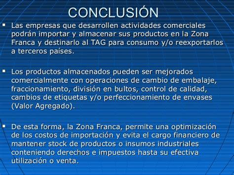 conclusion de impuestos estatales y municipales ensayos y presentacion zona franca