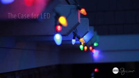 christmas lights led vs incandescent youtube