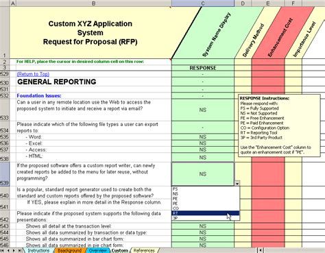 Select Custom Software Rfp Rfi Rfp Template Erp Software Selection