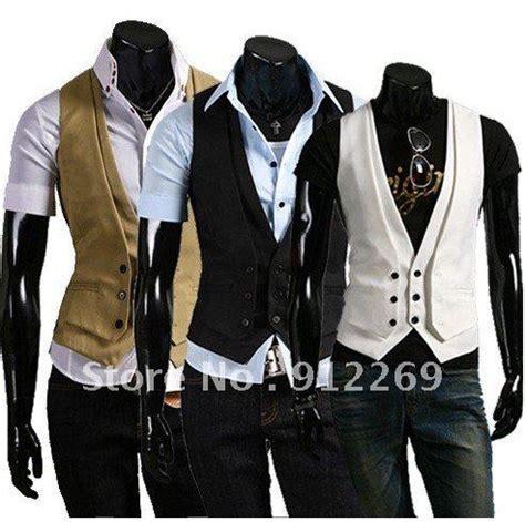 Blazer 2in1 fashion style s suit vest two blazer tuxedo vest waistcoat beige khaki black