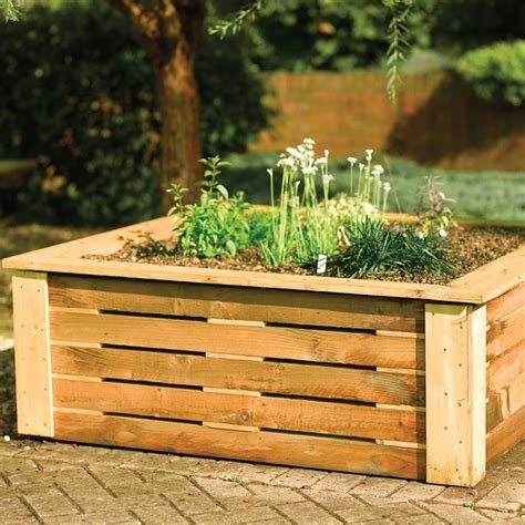 Raised Wooden Planters by 4 X 4 Ft Wooden Raised Garden Planter Westmount Living