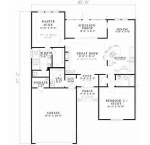 Plans For A 25 By 25 Foot Two Story Garage by Traditional Style House Plans 1426 Square Foot Home 1