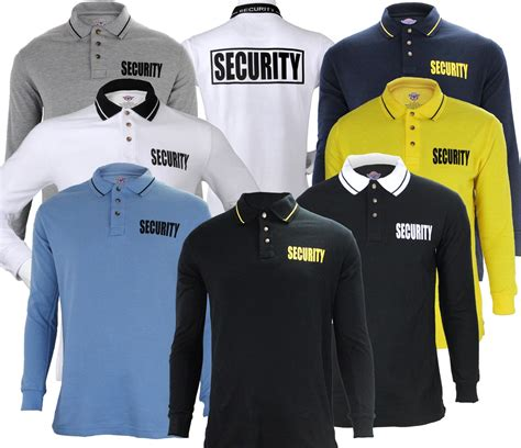 Polo T Shirt Kaosbaju Scurity poly cotton sleeve security polo shirt